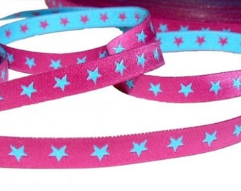 Ribbon Star Pink and blue Farbenmix Ribbon
