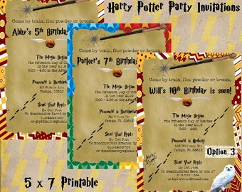 Harry potter birthday party invitations printable 5x7 harry potter birthday party invitations printable 5x7 filmwisefo