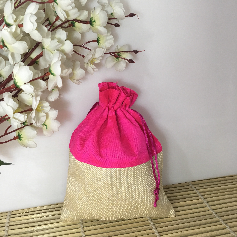 Burlap Bags Return Gift Potli Pouch Party Favor Bags Wedding