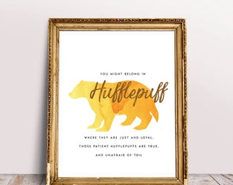 Harry Potter 'Hufflepuff' Printable INSTANT DOWNLOAD