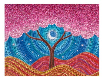 POSTCARD- Moonlit Blossoms by Elspeth McLean