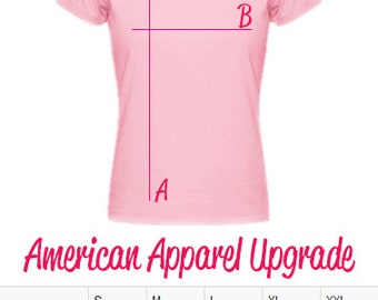 American Apparel Slim Fit Women's Tee Upgrade