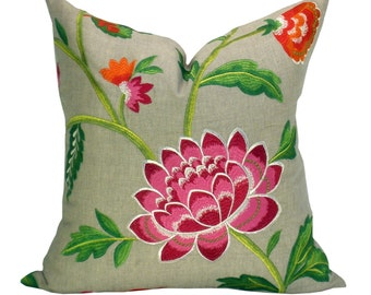 Carla pillow cover in Rose Indien