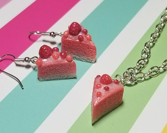 Strawberry Cheesecake Polymer Clay Jewelry