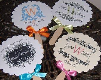 Wedding fans wedding program love birds wedding fan wedding fans wedding monogram paper fans monogrammed wedding fan diy do solutioingenieria Images