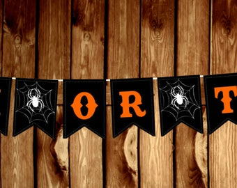 Halloween - Trick or Treat Banner -DIGITAL FILE ONLY