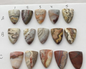 Jasper shield cabochons