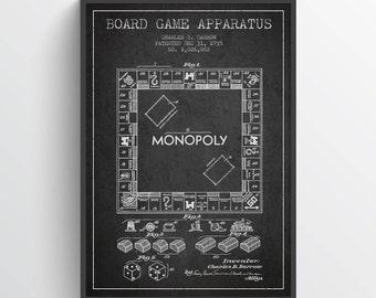 1935 Monopoly Patent, Monopoly Poster, Monopoly Print, Monopoly Wall Decor, Home Decor, Gift Idea, GT22P