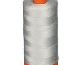 Aurifil Cotton Mako Thread 50 wt - DOVE GREY - 1422 yd Orange Spool - #2600