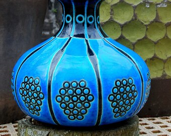 Rare French Art Deco Vase By Longwy Primavera For Department Store 'Printemps'. 1920s. Mint Condition