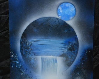 Spray Paint Art 14x22 - Dome Waterfall!