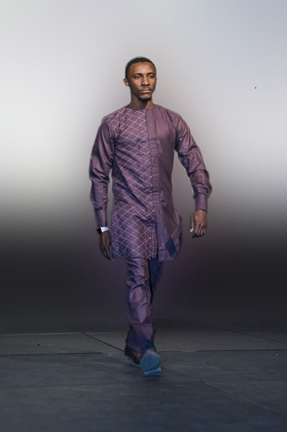 Handmade African Top and Pants for Men. Pocket Square Included. African Guinea Brocade. FREE SHIPPING. GrUbfkqhU