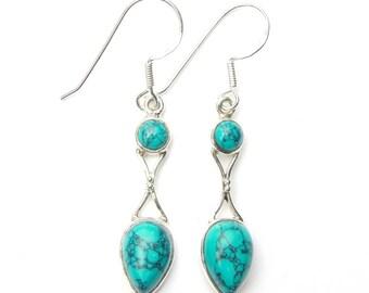 Turquoise Goddess Earrings