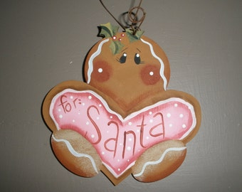 Gingerbread Cookie Holiday Ornament