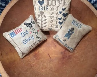 Primitive shelf sitters or bowl fillers small pillows