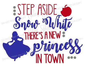Snow white, svg, png, eps, dxf, cut file, cricut file, silhouette cameo file, cuttable, step aside belle new, disney princess