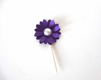 3D Flower Cupcake Topper, decorated pick, bridal shower decor, bling flower decor, pearl center flower, layered flower toppers, mothers day