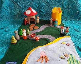 Handmade Felt Play Mat