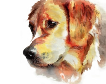 Custom Dog Portrait Personalized Dog Portrait Watercolor Painting Custom Pet Portrait  Memorial Art Custom Pet Portrait From Photo