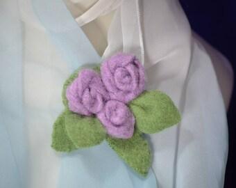 Cashmere Lavender Rose Pin Retailored Textiles