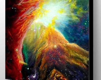 Orion Nebula Painting | Geek Decor | Geek Gift | Orion Constellation | Nebula Art Print | Galaxy Art | Galaxy Painting | Space Wall Art
