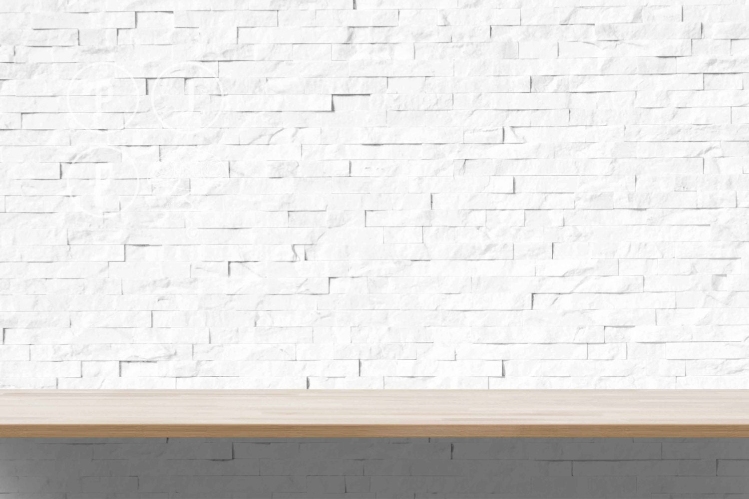 Room mockup white brick subway tile shelf mock up blank wall zoom dailygadgetfo Gallery
