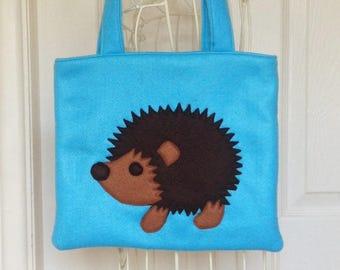 Hedgehog Bag, Cute Hedgehog Bag, Hedgehog, Little Girls Bag, Felt Bag, Felt Hedgehog Bag, Girls Bag, Woodland Hedgehog, Novelty Tote Bag