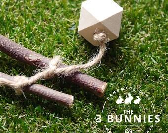 Wooden toss toy / rabbit toys / bunny toys / toys for rabbits bunnies / rabbit bunny enrichment toys / safe rabbit toys / wooden chew toys