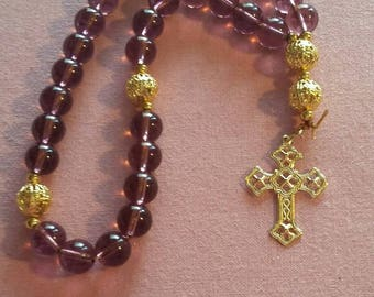 Amethyst Anglican Protestant rosary