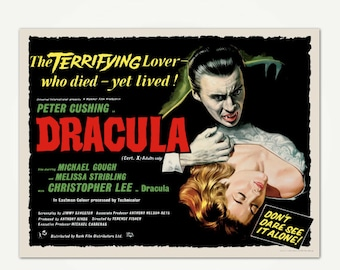 Dracula Movie Poster Print - Classic Horror Movie Poster Art
