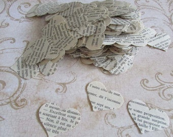 paper hearts 500 heart punches die cut confetti french novel