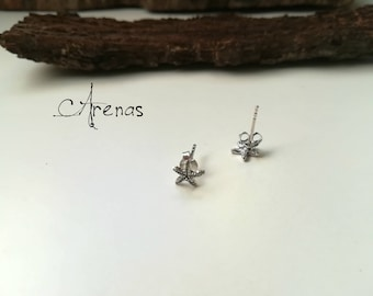 Stud Earrings Starfish - Silver Earrings - Minimalist Earrings - Boho Stud - Silver Stud - Earrings - Sterling Silver Stud - Ethnic Earrings