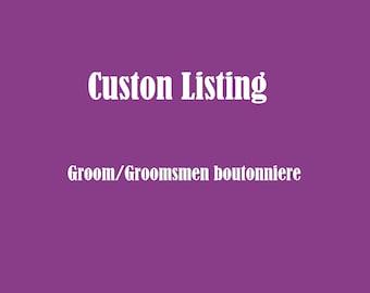 Groom/ groomsmen bouttonniere