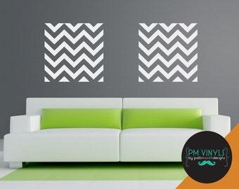 Large Seamless Chevron Pattern Tile Vinyl Wall Decal - TIL001