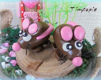 Little Brown Mouse ~ Fairy Garden Mouse