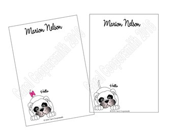 Pit Bull Notepads - Boy or Girl - Personalized