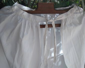 Antique 1900's French Cotton Apron White Cotton handmade Plays Movies Clothing for Costume #sophieladydeparis