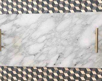 Calacatta Marble Decorative Tray // Cheese Board // Serving Tray