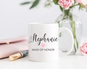 Set of Bridesmaid Mugs, Bridesmaids Mugs, Bridesmaid Gift, Bridesmaid Proposal Mugs, Wedding Mug, Personalized Bridesmaid Gift - Set of 6+