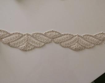 High quality 6 cm width coulrur ecru guipure lace