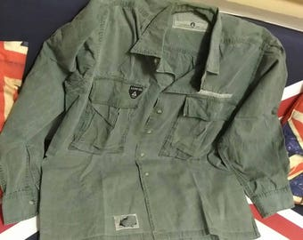 Authentic shirties army co. Flight  garment !!military shirt vintage 80s .