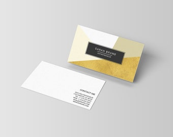 Modern business cards template freelance writers business modern business card template contemporary business cards geometric design photoshop template calling flashek Gallery