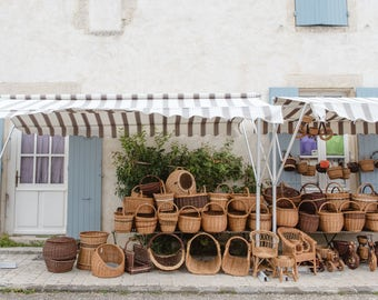 The Baskets of Brouage - French Village Fine Art Travel Photography Print