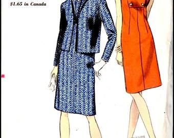 "Vogue 6966  Misses' Dress And jacket  Bust 32"""