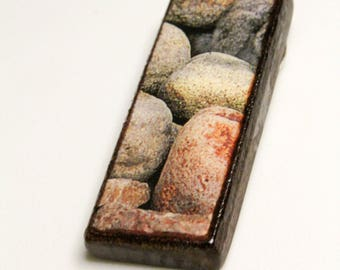 Beach Rocks #5 Wooden Pendant