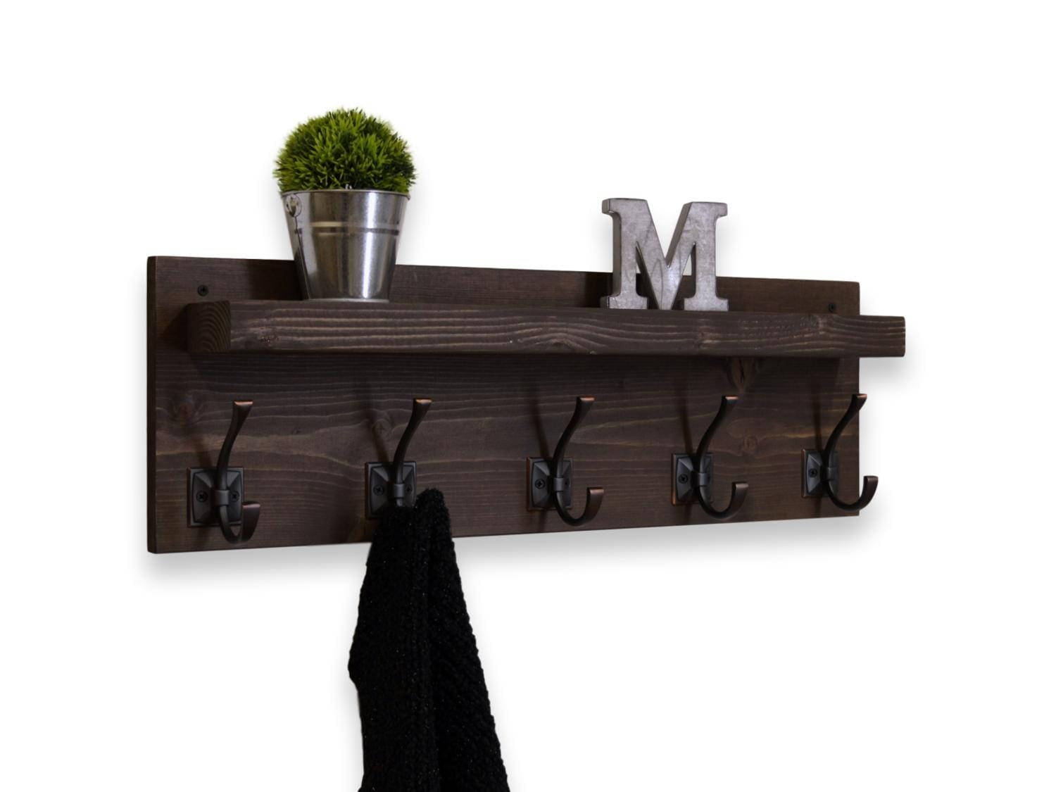 with natural decorative mounted racks awesome popular sylish good rack shelf wall coat modern