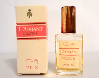 Vintage 1960s L'Aimant by Coty 0.25 oz Cologne Splash Mini Miniature Perfume and Box Original Formula