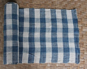 hand woven natural indigo dyed cotton fabric by the meter (H21)