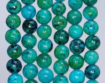 8mm Chrysocolla Gemstone Round Loose Beads 7.5 inch Half Strand (90143192-B61)
