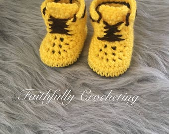 Newborn work boots.. baby boots... ready to ship